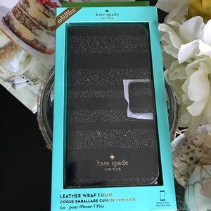 NWT Kate Spade Glitter Stripe Iphone 7/8 Plus Case